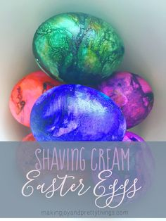 Fun, easy DIY shaving cream eggs, perfect for those younger kids