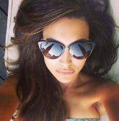 Naya Rivera + These Sunglasses Naya Rivera, Ray Ban Sunglasses Sale, Cat Eye Sunglasses, Sunglasses 2016, Celebrity Moms, Celebrity Style, Pretty People, Beautiful People, Selfies