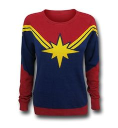 Suit Up As Carol Danvers In This Captain Marvel Sweater
