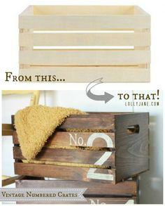 DIY vintage crate