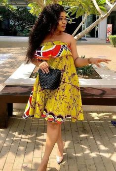 Hello, here are some lovely ankara gowns that will make you look sweet this week. These ankara gowns come in different styles and designs just to give you that fresh look you deserve. Latest African Fashion Dresses, African Dresses For Women, African Print Dresses, African Attire, African Wear, Ankara Fashion, Ankara Gowns, Ankara Skirt, African Inspired Clothing