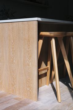 White Oak Kitchen London by Custom Fronts. Built on Ikea cabinets. Handmade in England.