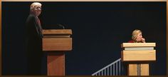 RUSH: If she has a coughing spasm, should Donald Trump leave his podium and walk to her podium to offer comfort and assistance?Hey,do you think Hillary's podium will have handrails? It's a wonder she hasn't asked for 'em, handrails in there. Can you see that?