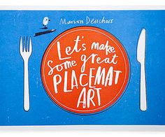 Marion Deuchars's Let's Make Some Great Placemat Art keeps kids busy while they wait foreeeeever for their dinner. Taking a page from the activity placemats offered at restaurants, the oversize pad contains more than a month's worth of open-ended scribbling and sketching sheets. Its nine different hand-drawn and watercolor designs are sure to keep fidgety diners creatively sated. Laurence King, $12.95