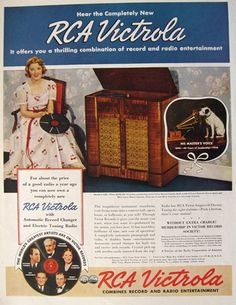 1938 RCA Victrola Ad ~ Model U-128, Vintage Radio, Camera, TV Ads