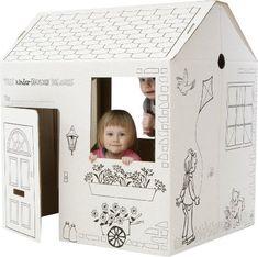 Casas y muebles para chicos creados con cajas de cartón y buenas ideas.