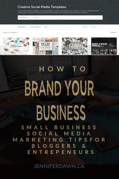 Learn How To Brand Your Business to look more professional and stand out among the cyber crowd. FREE Tips to to help you Grow Your Business. Branding Your Business, Business Tips, Online Business, Personal Branding, Craft Business, Business Design, Social Media Marketing Platforms, Social Media Template, Blog Planner
