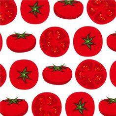 white tomato fabric by Robert Kaufman