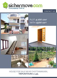 Home is heaven for beginners.......Plot 4.100 cent with 1500 sqft House for Sale near Chottanikkara, Tripunithura @ 45L.for more details please touch with:-http://bit.ly/1LQgVQG