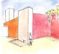 luis barragan drawings - Google Search