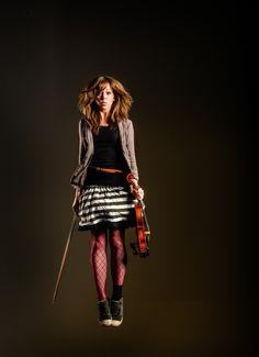 Lindsey Stirling... decided to put this in my apparel board because her outfit is so DARLING, but also, I love her music.