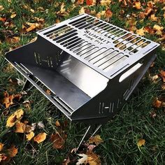 These fire pits are perfect for the trail. Made in the USA of plate steel and fold up flat for easy overland transport. Bbq Pit Smoker, Fire Pit Grill, Bbq Grill, Portable Fire Pits, Portable Grill, Metal Fire Pit, Diy Fire Pit, Outdoor Fire, Outdoor Decor