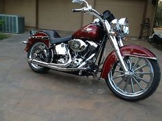 tricked out harley davidson softail deluxe   Chromed Out Maroon Custom Deluxe - Used Harley-davidson Softail for ...