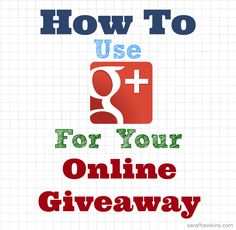 How To Use Google Plus For Your Online Giveaway - The answer is surprising, but knowing the legal issues is important for #bloggers and #business owners alike.