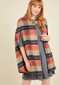 Darling Detective Work Cape in Paprika - Short. As the clues all come together…
