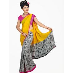 Bollywod designer saree in georgette fabric - Online Shopping for Designer Sarees by saiArisha