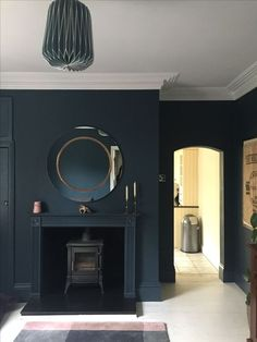 A week of 10 Beautiful Rooms dedicated to real spaces this week. It's always lovely to see styled shots and they are often very beautiful indeed for that Dark Living Rooms, Home Living Room, Living Room Designs, Living Room Decor, Dining Room, Hague Blue, Victorian Living Room, Snug Room, Mad About The House