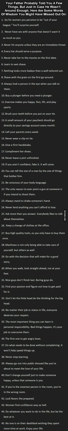 Great things to know. Especially for men. - 9GAG