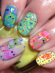 Owl Mani! Oh i absolutely love this....will be trying it soon!