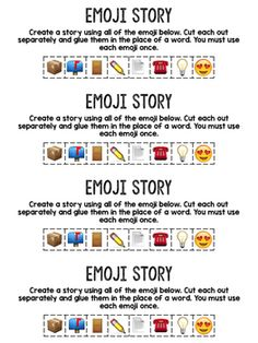 Emoji Story- A Writing Prompt using Emoji