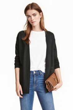 d3fd71f85a675 Fine-knit cardigan: Fine-knit cardigan in soft yarn with dropped shoulders,