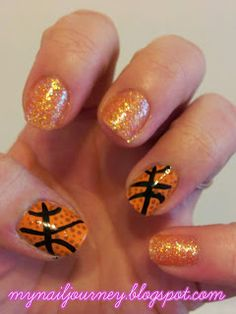 My Nail Journey: Basketball Nails