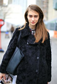 Marine Deleeuw in NYC. Aces on your face my dear. Just aces.