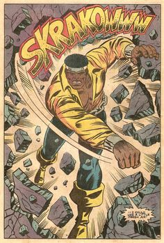 Luke Cage From Marvel Team-Up Annual Written By Frank Miller, Drawn By Herb Marvel Comics Superheroes, Marvel Comic Books, Comic Book Characters, Marvel Heroes, Marvel Characters, Comic Character, Comic Books Art, Comic Art, Marvel Defenders
