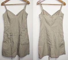 Summer Womans Beige Short Dress Skirt SCD Jeans Size M Girl Fashion Designer £0.99