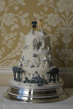 Battle of Hoth wedding cake