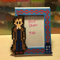 Doctor Who (10th doctor - David Tennant) picture frame  perler beads by Angela