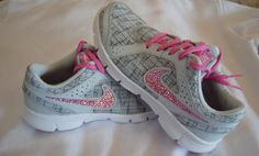 Blinged Out Nike Flex Experience 2 Running Shoes - Women