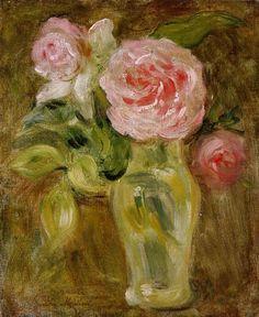 Roses~Berthe Morisot | Lone Quixote | #BertheMorisot #morisot #impressionism #art #painting