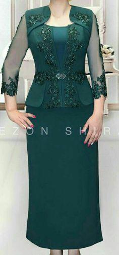 Green 2piece Mom Dress, Lace Dress, Dress Pesta, Latest African Fashion Dresses, Classy Dress, Dress Patterns, Blouse Designs, Designer Dresses, Beautiful Dresses