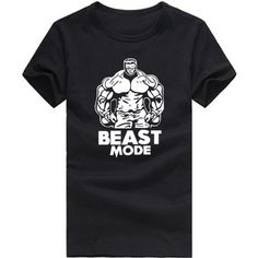 BEAST MODE ON HULK T SHIRT WEIGHTLIFTING Gymer