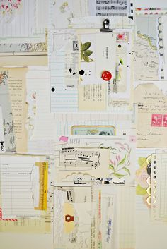 the pink couch: travel pages -- love all the ephemera! this would make a beautiful wallpaper pattern.
