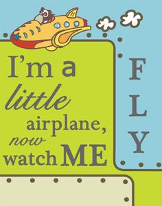 I'm a little airplane nursery decoration by CreationsbyMVP on Etsy, $25.00