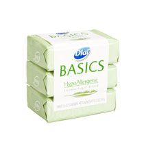 Split up multipacks of bar soap. Choose something gentle and as unscented as possible. Remember to bag in a plastic bag and put in your box at the last minute; you don't want everything, especially gum and candy, tasting or smelling like soap!