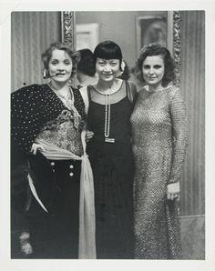 Alfred Eisenstaedt, Marlene Dietrich, Anna May Wong, Leni Riefenstahl, Berlin, 1928 (printed 1980) | Harvard Art Museums/ Busch-Reisinger Museum