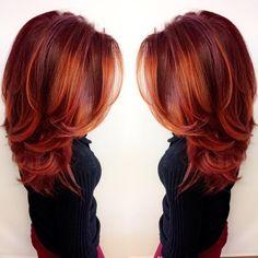 Heißesten Roten Balayage Haar Farbe Ideen 2017    #neueFrisuren #frisuren #2017 #bestfrisuren #bestenhaar  #beliebtehaar #haarmode #mode  #Haarschnitte @haarfarben