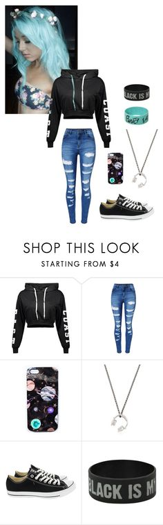 """""""eh ....."""" by sillydilly-1 ❤ liked on Polyvore featuring WithChic, Nikki Strange, Manuel Bozzi and Converse"""