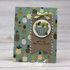 Stampin' Up! – Page 5 – Center Stage Stamping Tutti Frutti, Making Greeting Cards, Pineapple Print, Christmas In July, Card Sketches, Stamping Up, Cool Cards, Stampin Up Cards, Cardmaking