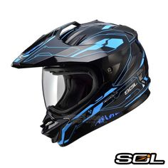 SOL SS-1 全罩安全帽 越野帽 光速 黑藍 - Yahoo!奇摩購物中心