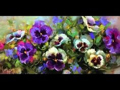 How to Paint Pansies Step by Step - Flower Painting Videos by Nancy Medina Art Studio - YouTube