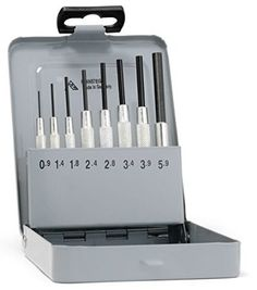 Rennsteig 457 102 5 Set of Parallel Pin Punches with Guide Sleeve 8-Piece Set with Storage Box 0.9 - 5.9 mm