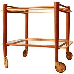 Teakwood Tea Trolley. I've been looking for the perfect tea trolley... I mean bar cart.