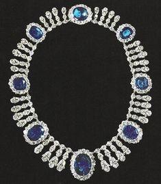 Sarotta Jewelry 25 mm Saphir Bleu Plaqué Or collier pendentif Dame Pour Robe