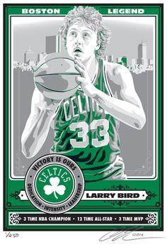 b5a5e1823a8c Larry Bird Boston Celtics Basketball Screen I Love Basketball