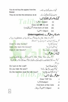 Learn Present Indefinite Tense In Urdu To English PDF Exercise Examples for Simple, Negative, and Interrogative Sentences Practice To Explain The Sentences Easy English Grammar, Grammar Book Pdf, Tenses English, English Sentences, Grammar And Vocabulary, English Vocabulary Words, Learn English Words, English Study, Grammar Rules
