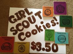 Girl Scout cookie booth sign